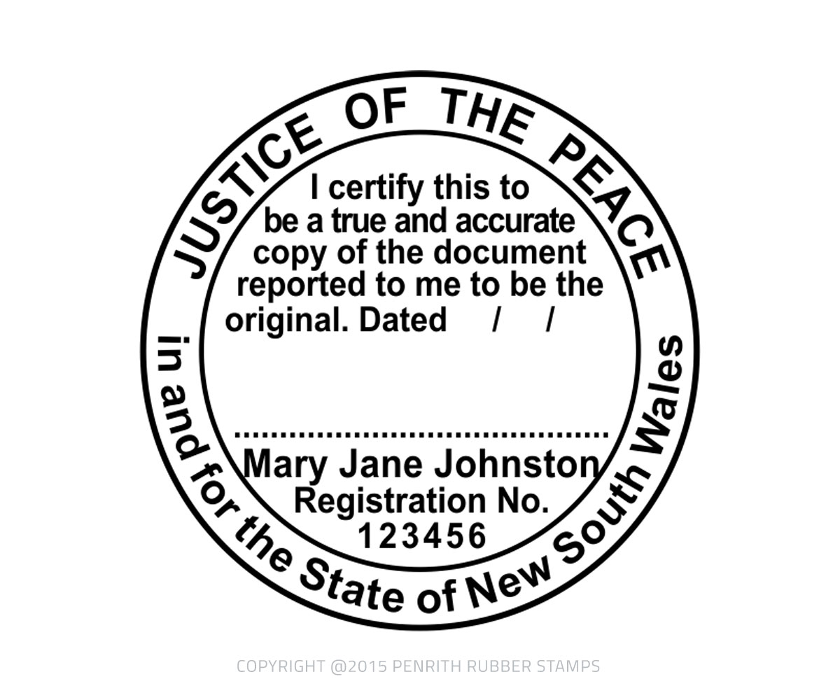 Justice of the Peace Stamp