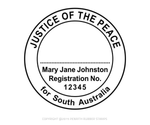 SA10 Justice of the Peace Stamp